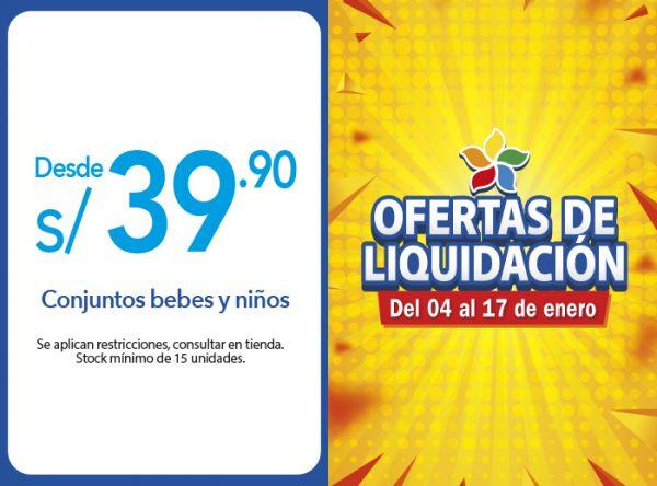 CONJUNTOS BEBES Y NIÑOS DESDE S/39.90 Sneak - Mall del Sur
