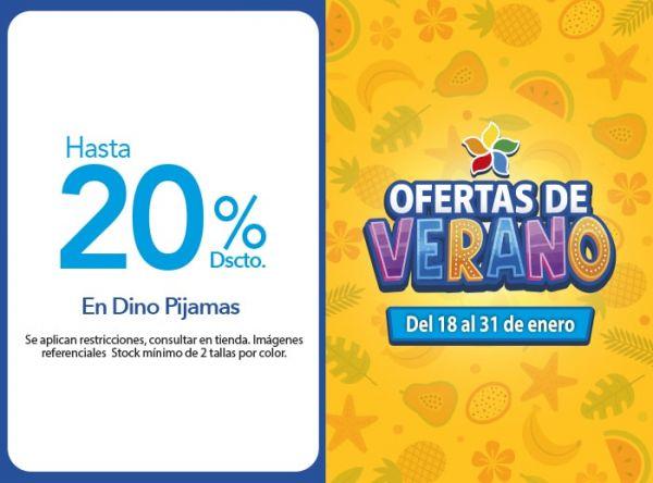 Hasta 20% Dscto.en Dino Pijamas - TODODINOS - Mall del Sur
