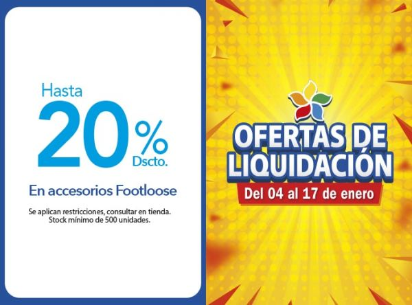 HASTA 20% DSCTO. EN ACCESORIOS FOOTLOOSE Top Model - Mall del Sur