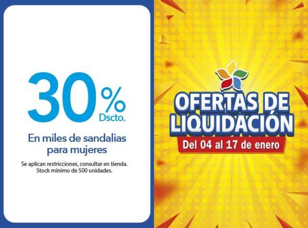 30% EN MILES DE SANDALIAS PARA MUJERES Top Model - Mall del Sur