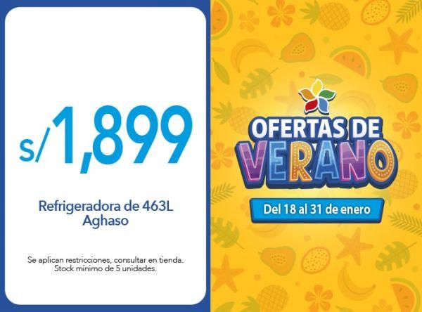 Refrigeradora de 463L Aghaso a S/. 1,899.00 AGHASO - Mall del Sur
