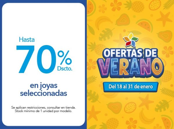 Hasta 70% Dscto. en joyas seleccionadas Belle Accesorios - Mall del Sur