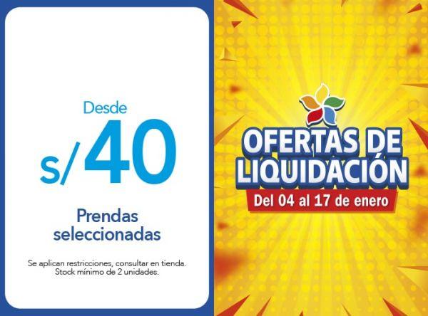 PRENDAS SELECCIONADAS DESDE S/40.00 Cicibet - Mall del Sur