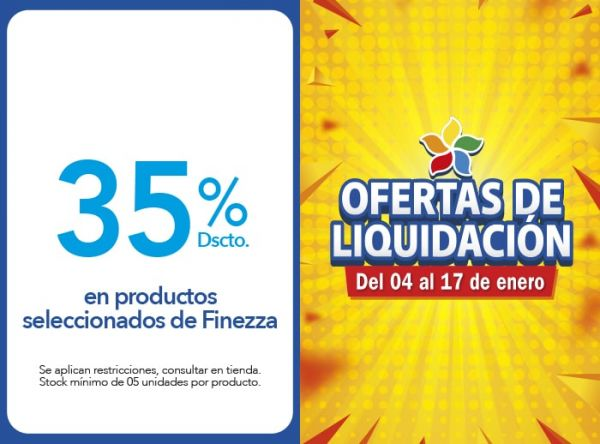 35% DSCTO. EN PRODUCTOS SELECCIONADOS DE FINEZZA Finezza - Mall del Sur