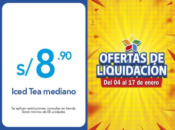 ICED TEA MEDIANO A S/. 8.90 Frutix - Mall del Sur