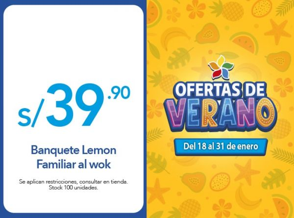 Banquete Lemon Familiar al wok a S/. 39.90 Chinawok - Mall del Sur
