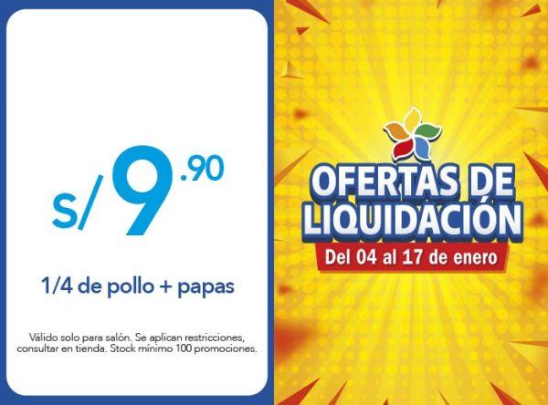 1/4 DE POLLO + PAPAS A S/ 9.90 Mediterraneo - Mall del Sur