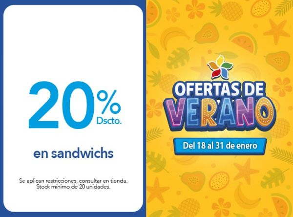 20% Dscto. en sandwichs Don Buffet - Mall del Sur