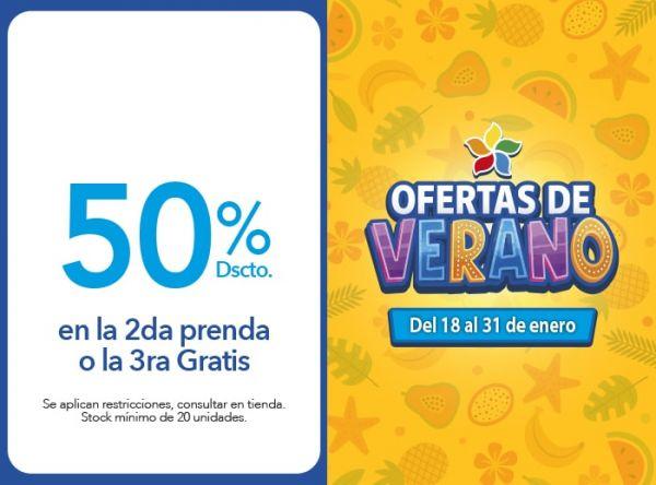 50% Dscto .en la 2da prenda o la 3ra Gratis KAYSER - Mall del Sur
