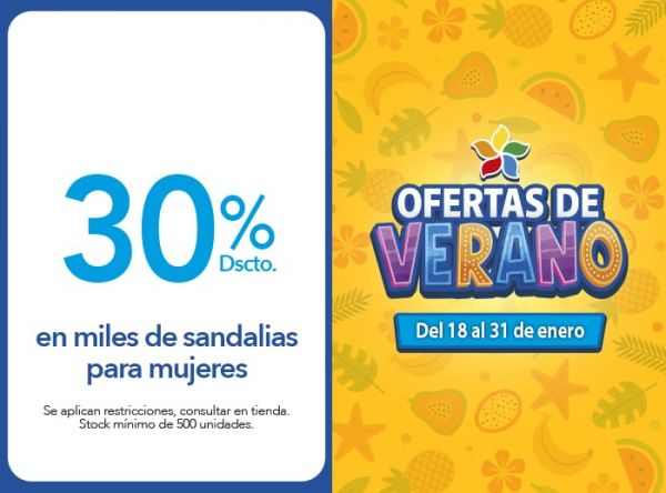 30% en miles de sandalias para mujeres FOOTLOOSE - Mall del Sur