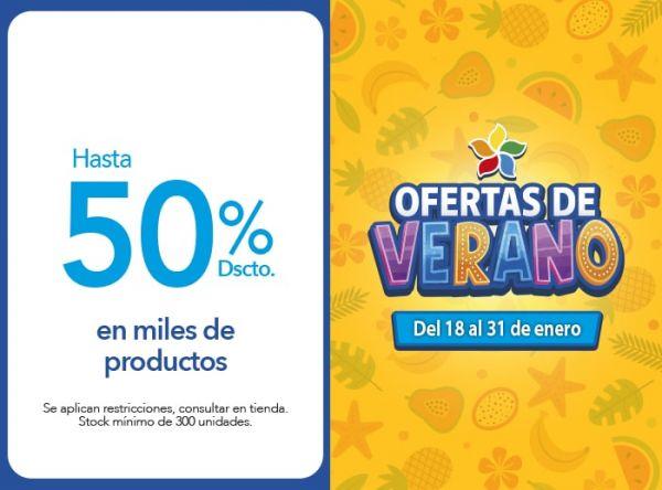 Hasta 50% Dscto. en miles de productos. GMO - Mall del Sur