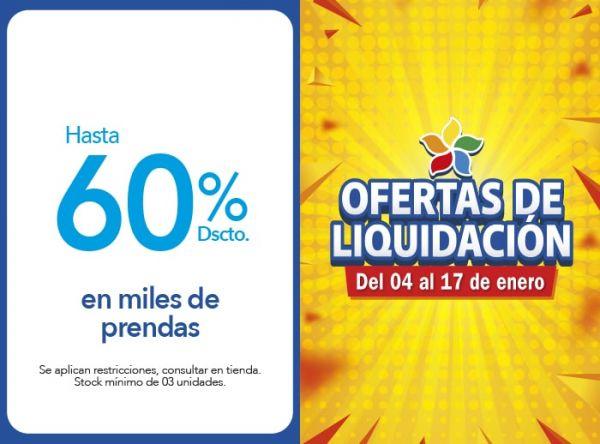 HASTA 60% DSCTO. EN MILES DE PRENDAS - Plaza Norte