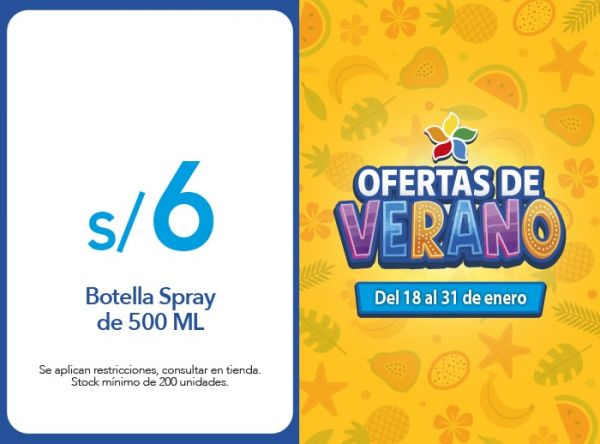 Botella Spray de 500 ML a S/ 6.00 KOMONOYA - Mall del Sur