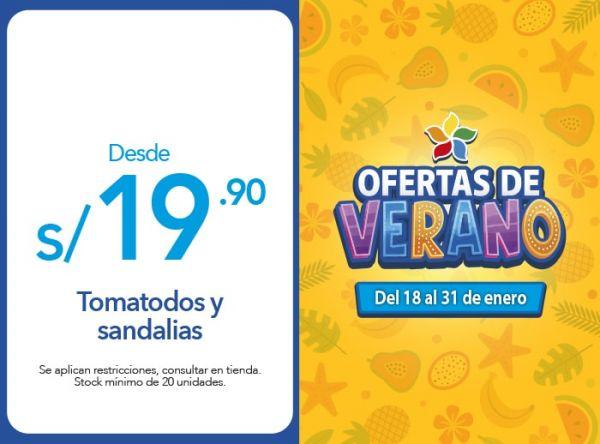 Tomatodos y sandalias desde 19.90 MUMUSO - Mall del Sur