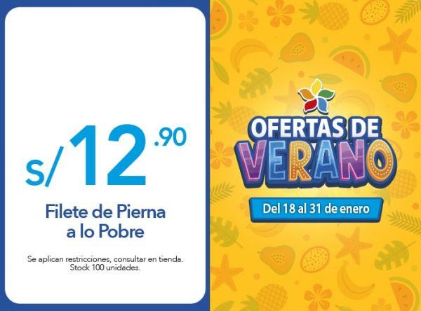 Filete de Pierna a lo Pobre a S/. 12.90 Otto Grill - Mall del Sur