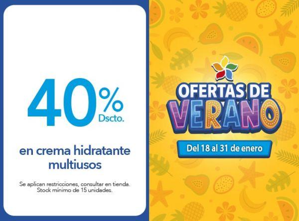 40% Dscto. en crema hidratante multiusos Dead Sea Premier - Mall del Sur