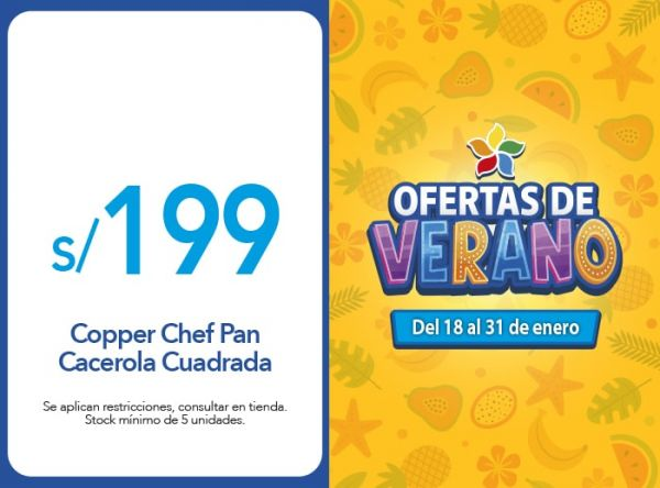 Copper Chef Pan Cacerola Cuadrada Ahora:S/ 199.00 Quality Store - Mall del Sur