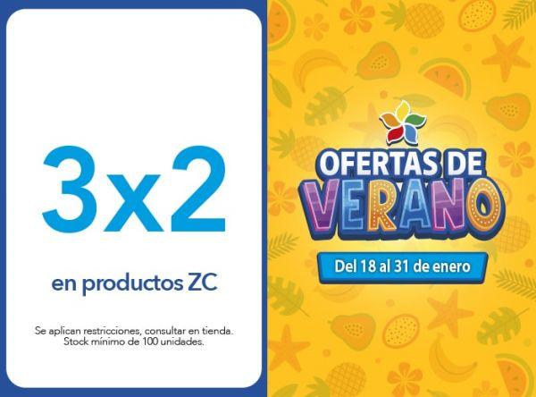 3X2 en productos ZC Zona Cel - Mall del Sur
