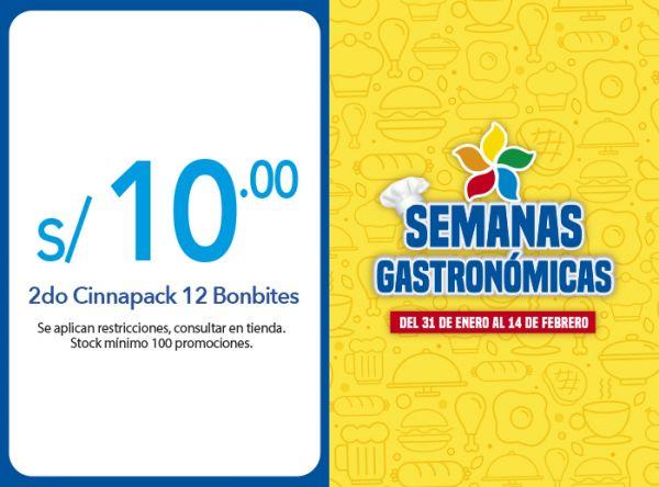 2DO CINNAPACK 12 BONBITES A S/10.00 - Plaza Norte