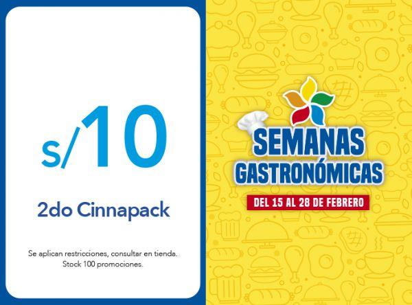 2DO CINNAPACK A S/10.00 CINNABON - Mall del Sur