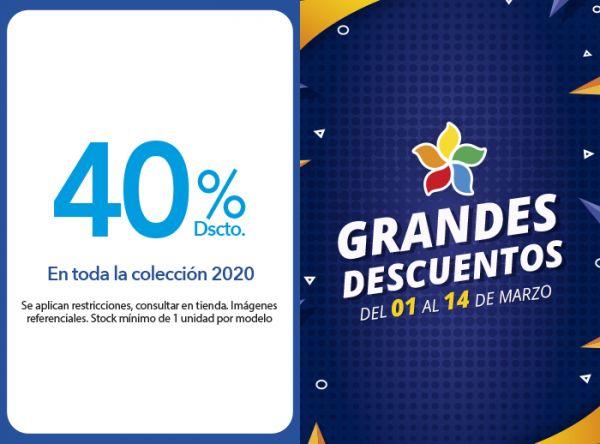 40 % DSCTO. EN TODA LA COLECCIÓN 2020 Belle Accesorios - Mall del Sur