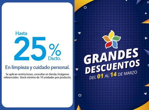 HASTA 25% DSCTO. EN LIMPIEZA Y CUIDADO PERSONAL. Tai Loy - Mall del Sur
