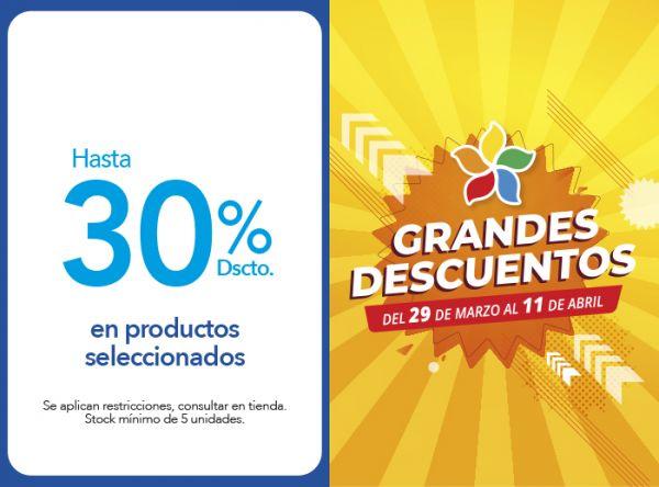 HASTA 30% DSCTO.EN PRODUCTOS SELECCIONADOS - Plaza Norte