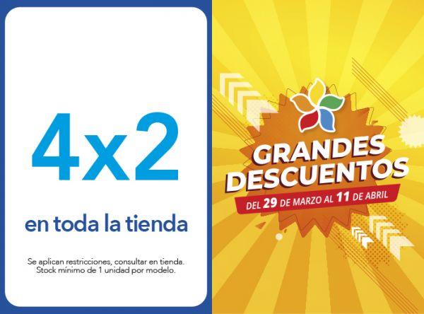 4 X 2 EN TODA LA TIENDA - Plaza Norte