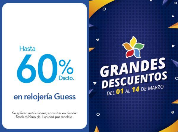 HASTA 60% DSCTO. EN RELOJERIA GUESS Chronos - Mall del Sur