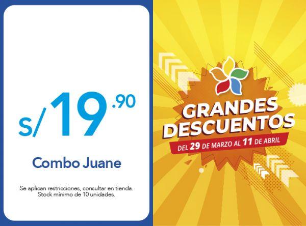 COMBO JUANE A SOLO S/ 19.90 - Plaza Norte