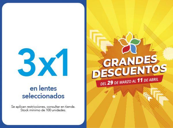 3X1 EN LENTES SELECCIONADOS - Plaza Norte