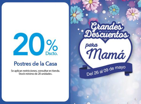 20% DSCTO. POSTRES DE LA CASA Don Buffet - Mall del Sur