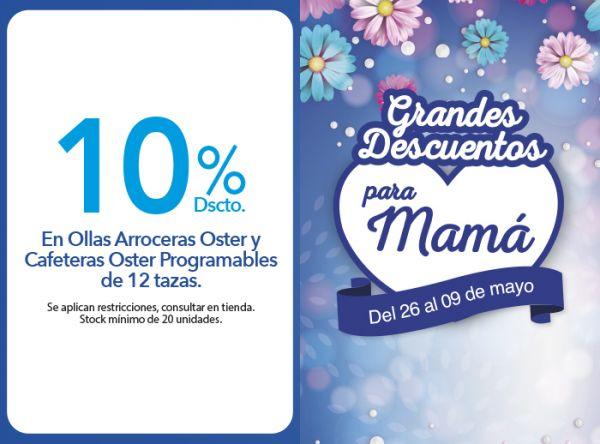10% DSCTO. EN OLLAS ARROCERAS OSTER Y CAFETERAS OSTER PROGRAMABLES DE 12 TAZAS. Vivo Hogar - Oster - Mall del Sur