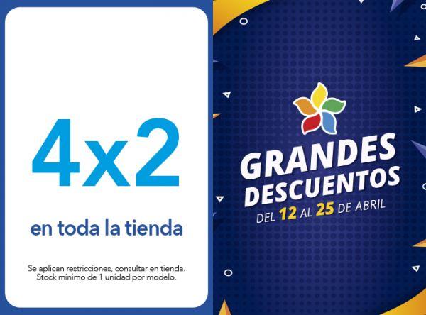 4 X 2 EN TODA LA TIENDA BIBI - Mall del Sur