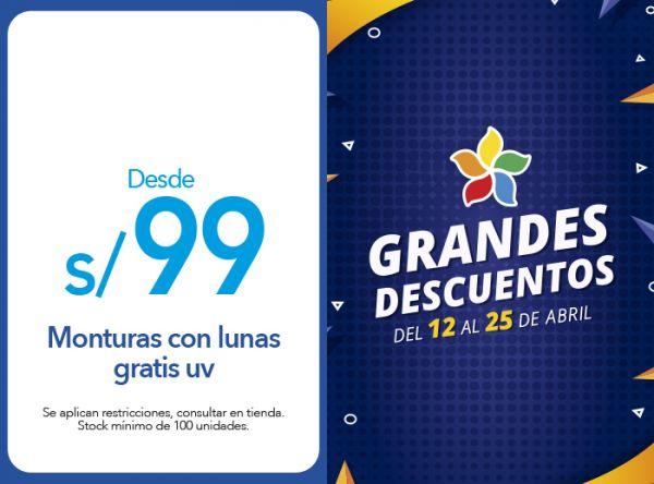MONTURAS DESDE 99 SOLES CON LUNAS GRATIS UV Econolentes By Grand Vision - Mall del Sur