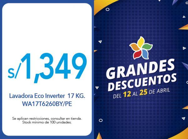 LAVADORA ECO INVERTER 17 KG. WA17T6260BY/PE A S/1,349.00 - EFE - Mall del Sur