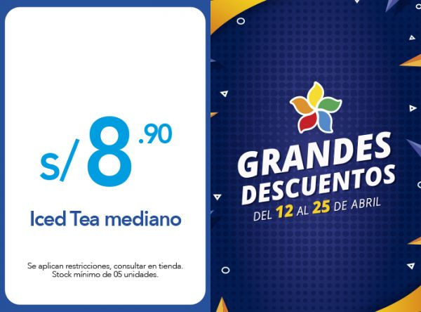 ICED TEA MEDIANO A S/ 8.90 Frutix - Mall del Sur