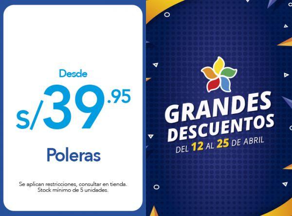 POLERAS DESDE S/39.95 Oechsle - Mall del Sur