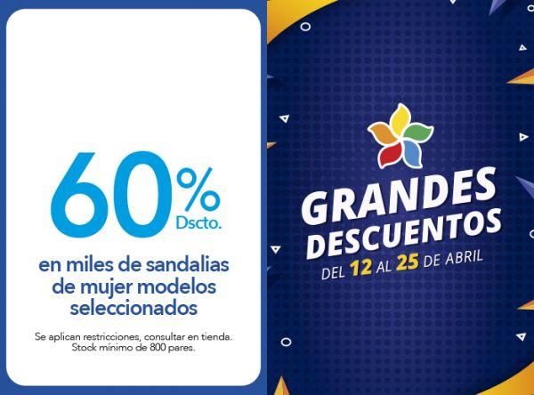 60% DSCTO.EN MILES DE SANDALIAS DE MUJER MODELOS SELECCIONADOS Top Model - Mall del Sur