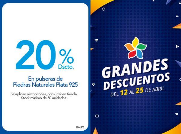 20 % DSCTO.EN PULSERAS DE PIEDRAS NATURALES PLATA 925 BALIQ - Mall del Sur
