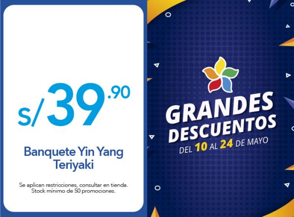 BANQUETE YIN YANG TERIYAKI A S/ 39.90 Chinawok - Mall del Sur