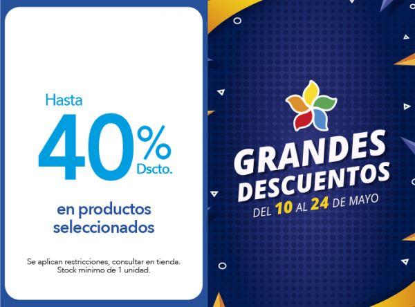 HASTA 40% DSCTO. EN PRODUCTOS SELECCIONADOS Crepier  - Mall del Sur