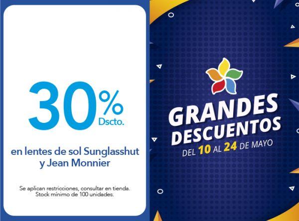 30% EN LENTES DE SOL SUNGLASSHUT Y JEAN MONNIER Econópticas - Mall del Sur