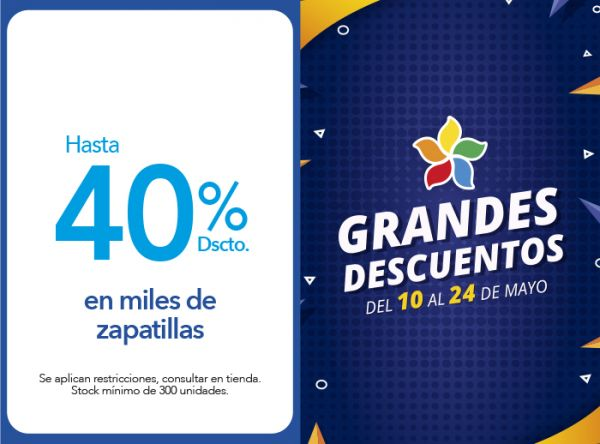HASTA 40%  DSCTO. EN MILES DE ZAPATILLAS FOOTLOOSE - Mall del Sur
