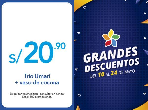 TRÍO UMARÍ + VASO DE COCONA A S/20.90 La Choza de la Anaconda - Mall del Sur