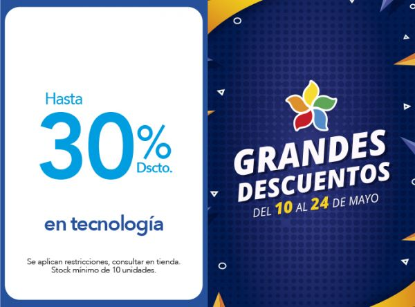 HASTA 30% DSCTO. EN TECNOLOGÍA Tai Loy - Mall del Sur
