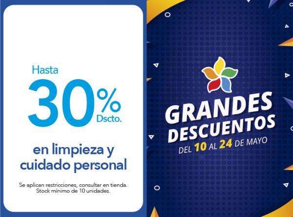 HASTA 30% DSCTO. EN LIMPIEZA Y CUIDADO PERSONAL Tai Loy - Mall del Sur