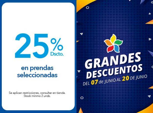 25% DSCTO. EN PRENDAS SELECCIONADAS DE TEMPORADA - Plaza Norte
