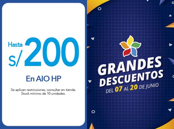 HASTA S/200.00 DSCTO. EN AIO HP - Plaza Norte