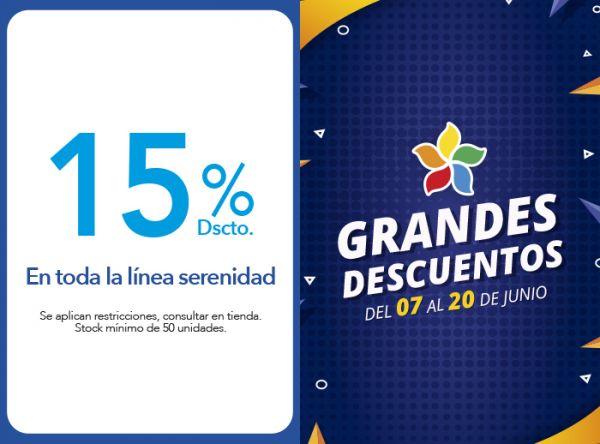 15% DSCTO. EN TODA LA LÍNEA SERENIDAD. - Plaza Norte